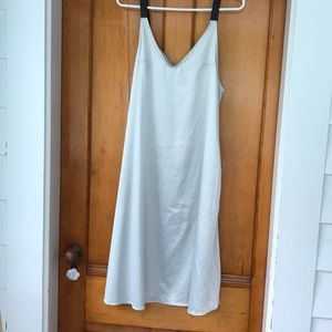 Silky light gray/blue summer dress